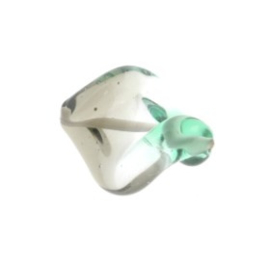 glaskraal twist 18 x 18 mm handgemaakt groen