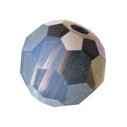 5000 kraal rond facet 8 mm white opal sky blue (234 SKY) p/12