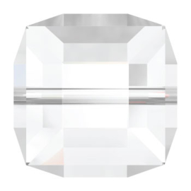 5601 kraal kubus 8 mm crystal (001 AB) p/6