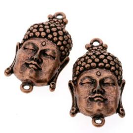 Decoratieve hanger buddha klein gesloten ogen MAC 33 x 20mm p/3