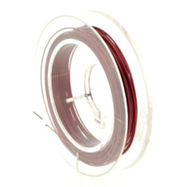 staaldraad 0.38mm nyloncoated rood p/10 mtr p/5 rolletjes