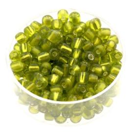 rocailles 6/0 licht groen  p/500 gram