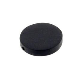 kraal black horn plat rond 17 x 3 mm zakje +/- 25 stuks