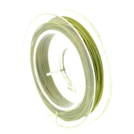 staaldraad 0.38mm nyloncoated lime p/10 mtr p/5 rolletjes