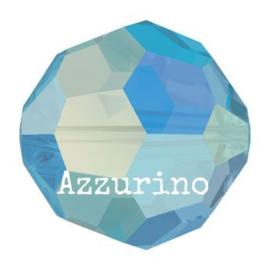 5000 kraal rond facet 5 mm capri blue AB (243 AB) p/20