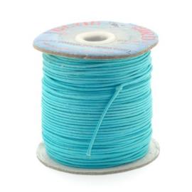 waxkoord 1.5 mm rol p/100 meter turquoise