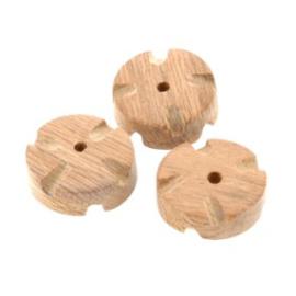 kraal hout 6x15 mm bloem rose wood p/20