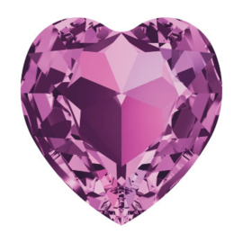 4800 Fancy Stone heart 6.6 x 6 mm amethyst  (204) p/6