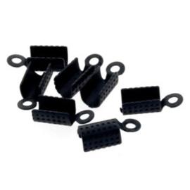 LC2 leerklem voor 2/3 veters Mat Zwart 7x5mm p/50