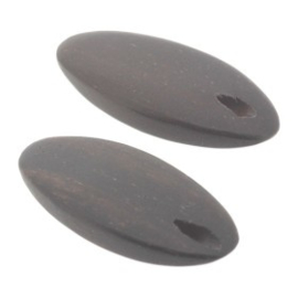 kraal hout 20x8mm zwart  p/20