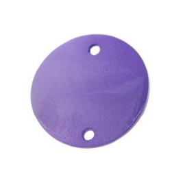 tussenzetsel schelp rond 2 gaatjes 18 mm blauw p/10