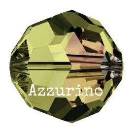 5000 kraal rond facet 8 mm olivine AB (228 AB) p/12
