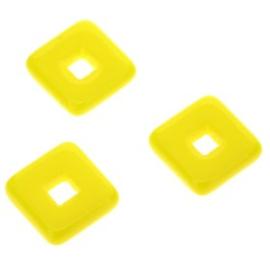 glaskraal vierkant 12 x 12mm peridot p/25