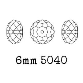5040 kraal 6 mm briolette white alabaster (281) p/20