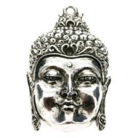 Decoratieve hanger buddha open ogen AS 50 x 30mm p/2