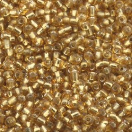 rocailles 12/0 crystal/goud p/500 gram