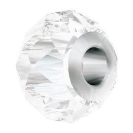 5940 BeCharmed Briolette Bead 14 mm Crystal (001) Steel p/st