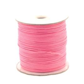 waxkoord 1.5 mm rol p/100 meter roze