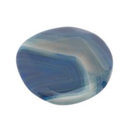 kraal agaat blauw rond facet 42 mm  p/stuk