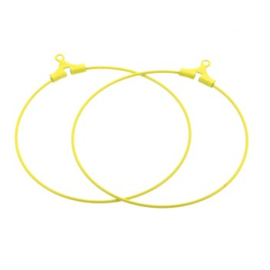 oorbel ornament 40mm p/6 paar geel