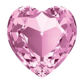 4800 Fancy Stone heart 11 x 10 mm light amethyst F (212) p/6