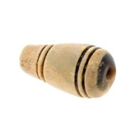 kraal druppel hoorn gebrand 26x15mm p/10
