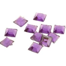 plaksteen kunststof vierkant 6,5 x 6,5 mm p/50