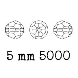 5000 kraal rond facet 5 mm capri blue (243) p/20