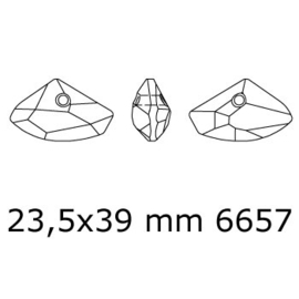 6657 Galactic Horizontal hanger 23,5 x 39 cm crystal silver shade (001 SSHA) p/st