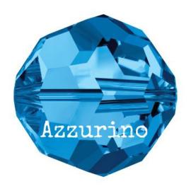 5000 kraal rond facet 8 mm capri blue AB (243 AB) p/12