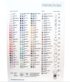 Swarovski Beads Color Chart 2015 (Engels)