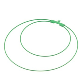 oorbel ornament dubbel 60mm p/6 paar groen
