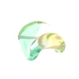 glaskraal twist 18 x 18 mm handgemaakt licht groen