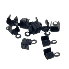 LC1 leerklem voor 1 veters Mat Zwart 7x3.5mm p/50