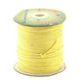 waxkoord 1.5 mm rol p/100 meter geel