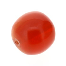 kraal kunststof rond amber 26mm p/4