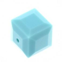 5601 kraal kubus 8 mm turquoise (267) p/6