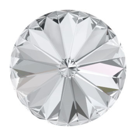 1122 rivoli 12mm puntsteen crystal F (001) p/6