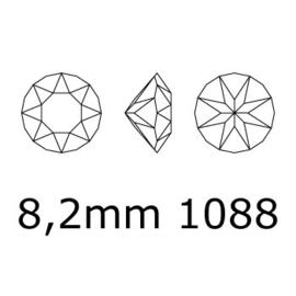 1088 Xirius Chaton puntsteen 8,20 mm / SS 39 padparadscha ab F (542 AB) p/10
