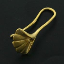 oorhaak blad mat goud p/paar p/12 paar