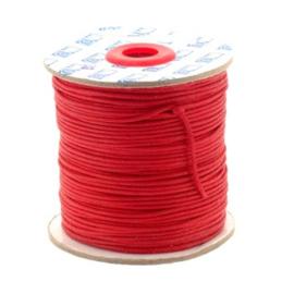 waxkoord 1.5 mm rol p/100 meter rood