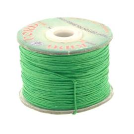 waxkoord 1.0 mm rol p/100 meter groen