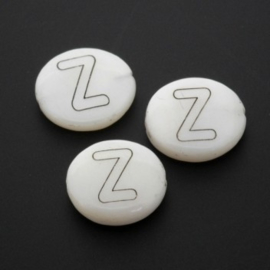 letterkraal schelp Z / 13 x 4 mm p/12