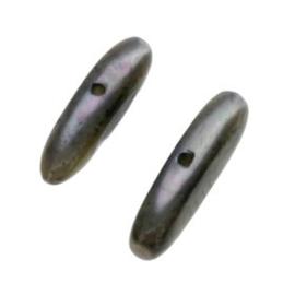 kraal troca schelp mini stick zwart  15 x 4 mm  p/50