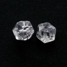 glaskraal rondell 6 x 9 mm crystal p/20