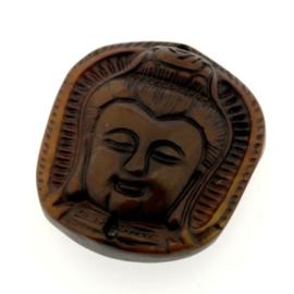 Jade hanger buddha 40 x 36 x 10 mm  p/st