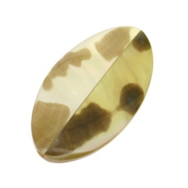 kraal schelp Mother of Pearl tiger 4 kantig ovaal 38 x 20 mm p/10