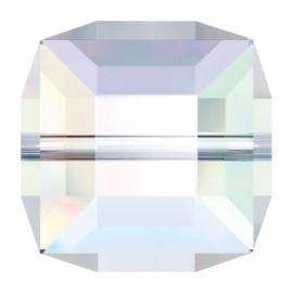 5601 kraal kubus 10 mm crystal ab (001 AB) p/4