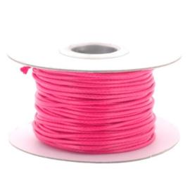 Soft waxkoord / slangenkoord 2mm p/30 meter roze