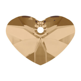 6260 37mm CRAZY 4 U HEART crystal golden shadow (001 GSHA)